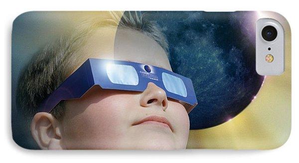 Watching Solar Eclipse Phone Case by Detlev Van Ravenswaay