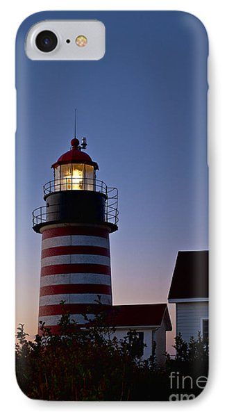West Quoddy Head Lighthouse Phone Case by John Greim
