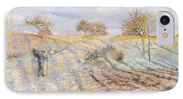 White Frost Phone Case by Camille Pissarro