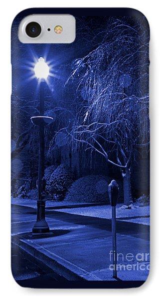 Winter Sidewalk Blues IPhone Case by John Stephens