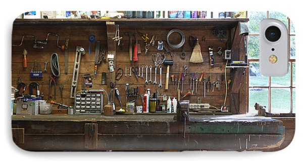 Work Bench And Tools Phone Case by Adam Crowley