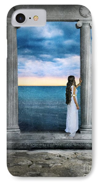 Young Woman As A Classical Woman Of Ancient Egypt Rome Or Greece Phone Case by Jill Battaglia