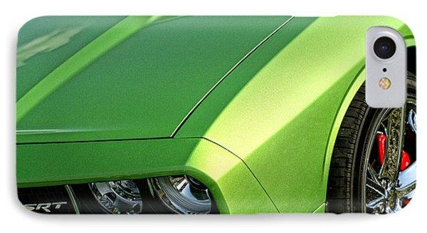 2011 Dodge Challenger Srt8 - Green With Envy Phone Case by Gordon Dean II