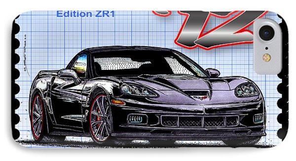 2012 Centennial Edition Zr1 Corvette IPhone Case by K Scott Teeters