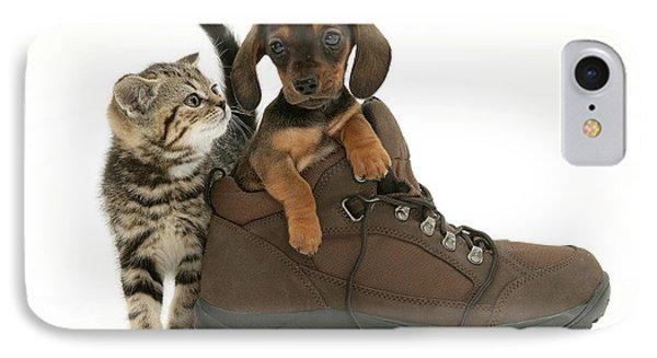 Kitten And Puppy Phone Case by Jane Burton