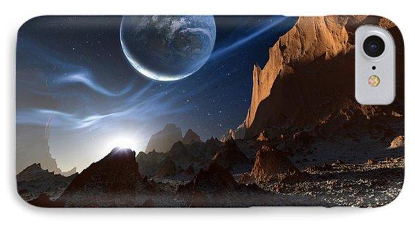 Alien Landscape, Artwork Phone Case by Detlev Van Ravenswaay