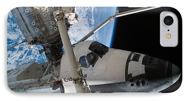 Space Shuttle Endeavour IPhone Case by Stocktrek Images
