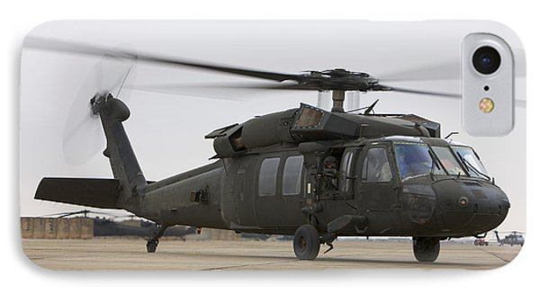 A Uh-60 Black Hawk Taxis Phone Case by Terry Moore