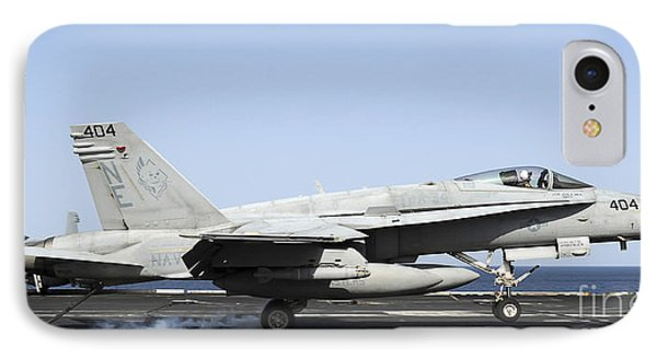 An Fa-18c Hornet Makes An Arrested Phone Case by Stocktrek Images