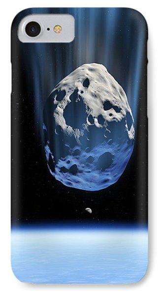 Asteroid Approaching Earth, Artwork Phone Case by Detlev Van Ravenswaay