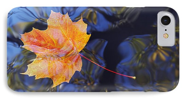 Autumn Leaf On The Water Phone Case by Michal Boubin