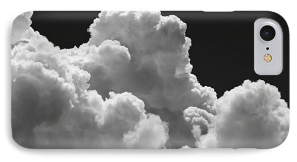 Black And White Sky With Building Storm Clouds Fine Art Print IPhone Case by Keith Webber Jr