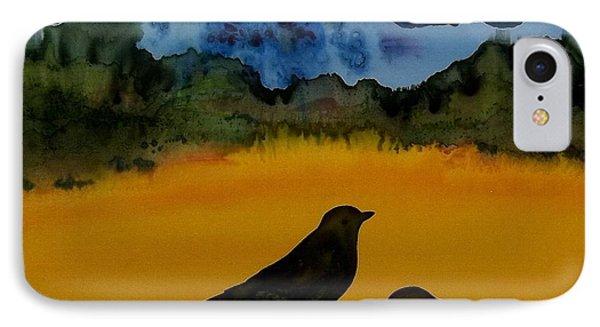 3 Blackbirds Phone Case by Carolyn Doe