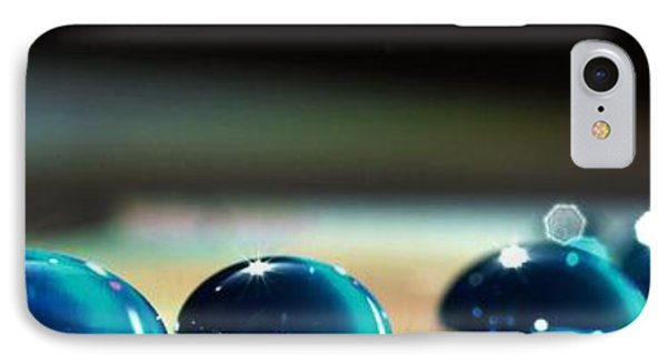IPhone Case featuring the photograph Blue Drops by Sylvie Leandre