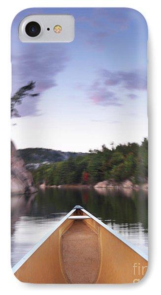 Canoeing In Ontario Provincial Park Phone Case by Oleksiy Maksymenko