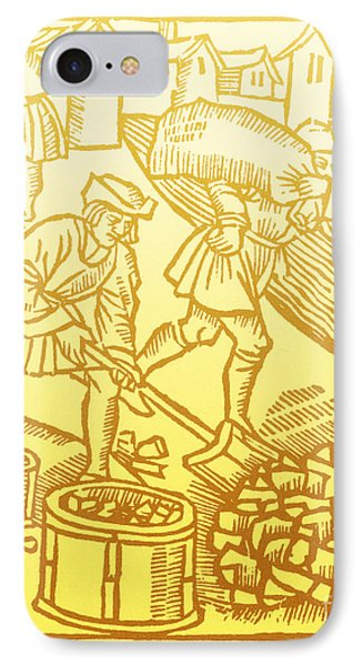 Charcoal Burners, Medieval Tradesmen IPhone Case