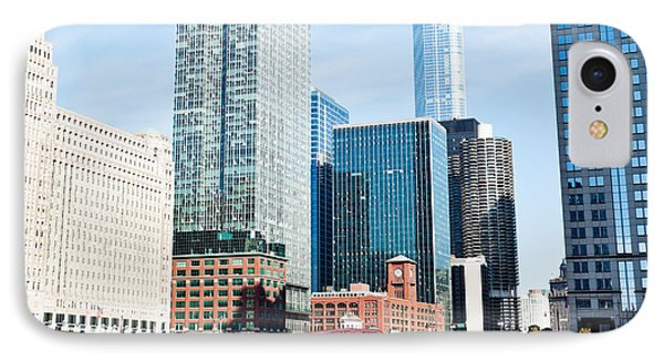Chicago River Skyline Phone Case by Paul Velgos