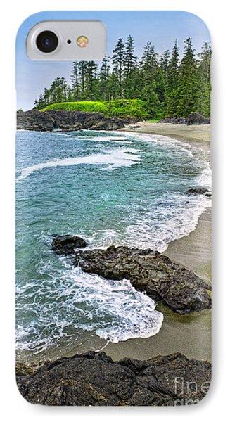Coast Of Pacific Ocean In Canada IPhone Case