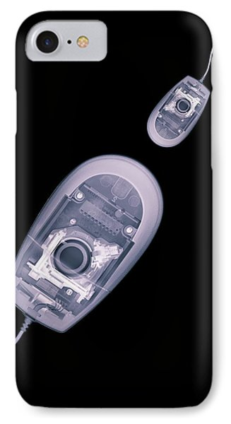 Computer Mice, X-ray Artwork IPhone Case by Mark Sykes