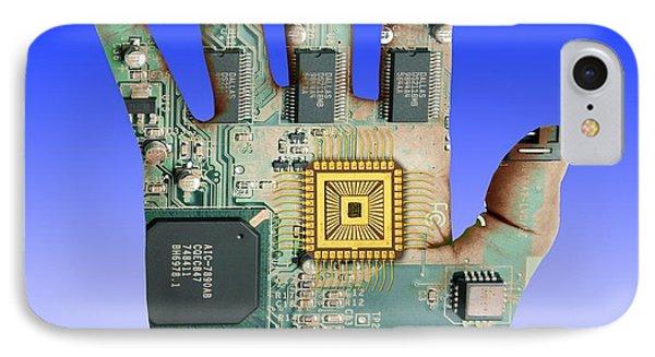 Cybernetics And Robotics Phone Case by Victor De Schwanberg