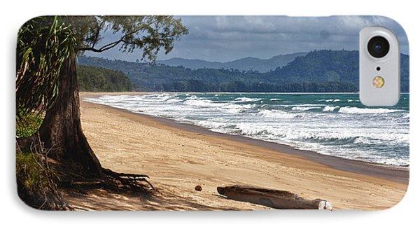 Deserted Beach In Phuket In Thailand Phone Case by Zoe Ferrie