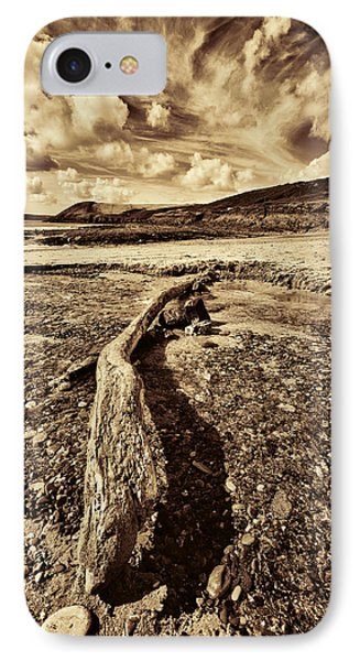 IPhone Case featuring the photograph Driftwood by Steve Purnell