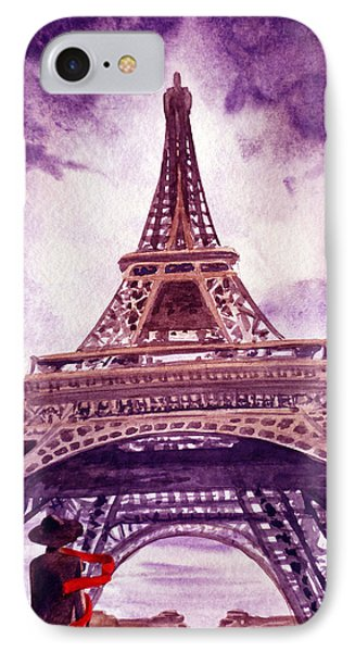 Eiffel Tower Paris Phone Case by Irina Sztukowski