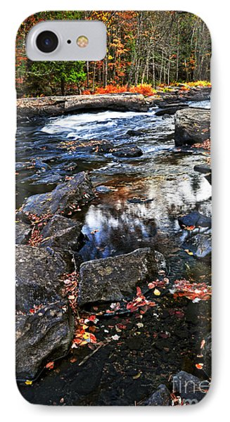 Fall Forest And River Landscape Phone Case by Elena Elisseeva