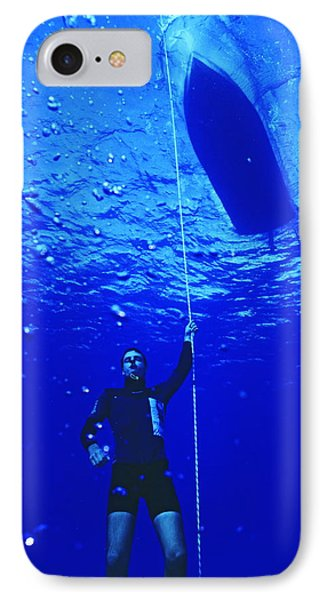 Free-diver IPhone Case by Alexis Rosenfeld