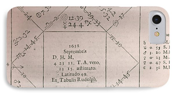 Horoscope Chart For Louis Xiv, 1661 Phone Case by Science Source