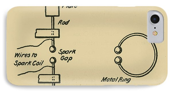 Illustration Of Hertzs Oscillator Phone Case by Science Source