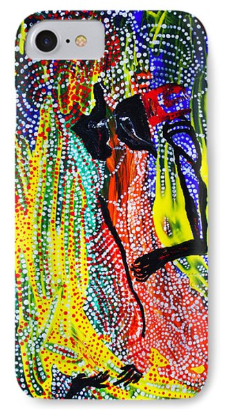 IPhone Case featuring the painting Jesus And Mary by Gloria Ssali