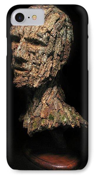 Revered  A Natural Portrait Bust Sculpture By Adam Long Phone Case by Adam Long