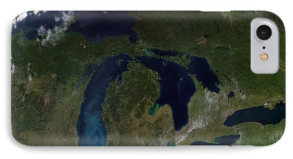 Satellite View Of The Great Lakes Phone Case by Stocktrek Images
