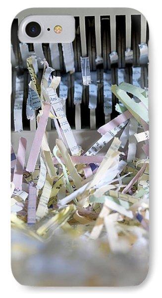 Shredded Paper Phone Case by Tek Image