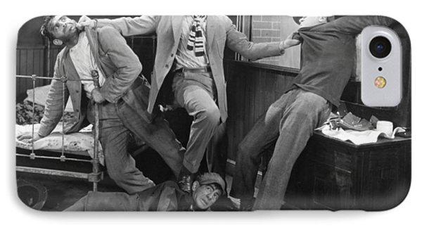 Silent Film Still: Fights IPhone Case by Granger