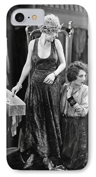 Silent Film Still: Sewing Phone Case by Granger