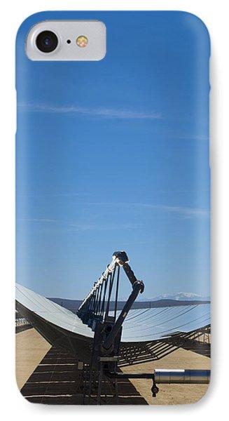 Solar Parabolic Mirror, California, Usa Phone Case by David Nunuk