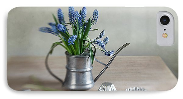 Still Life With Grape Hyacinths IPhone Case by Nailia Schwarz
