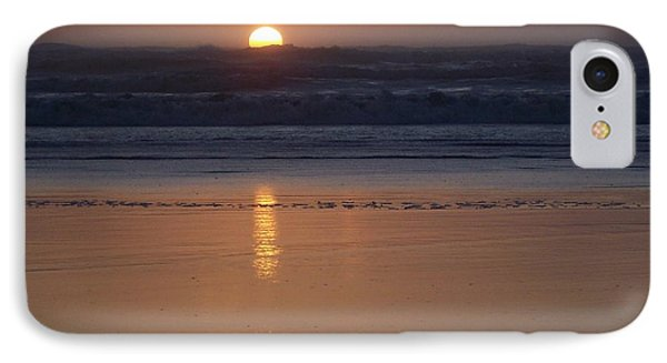 Sunset At Surfside 2 IPhone Case by Peter Mooyman
