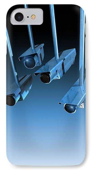 Surveillance, Conceptual Image Phone Case by Victor Habbick Visions