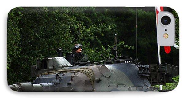 Tank Commander Of A Leopard 1a5 Mbt Phone Case by Luc De Jaeger