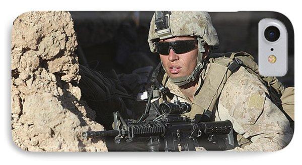 U.s. Marine Provides Security Phone Case by Stocktrek Images