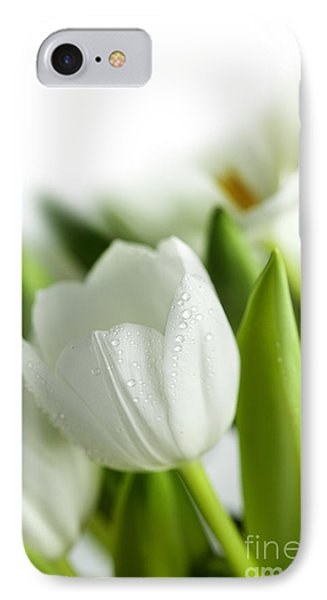 White Tulips IPhone Case by Nailia Schwarz