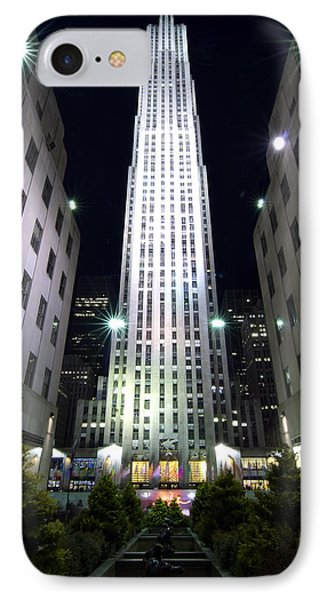 IPhone Case featuring the photograph 30 Rock by Michael Dorn