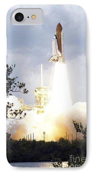 Space Shuttle Atlantis Lifts Phone Case by Stocktrek Images