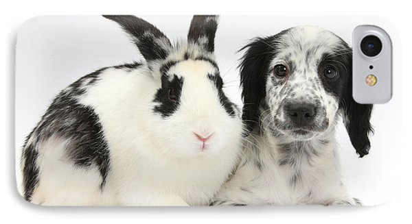 Puppy And Rabbit Phone Case by Mark Taylor