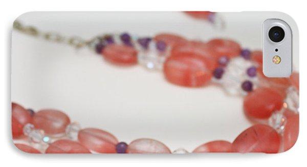 3606 Cherry Quartz Triple Strand Necklace IPhone Case