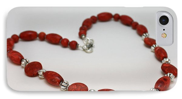 3612 Red Coral Necklace IPhone Case