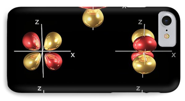 3d Electron Orbitals IPhone Case by Dr Mark J. Winter